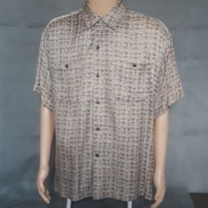 VISITOR: Silk blend Casual Button Down Shirt